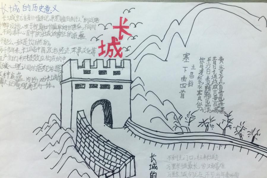 小导游刘羽佳的简笔画-长城